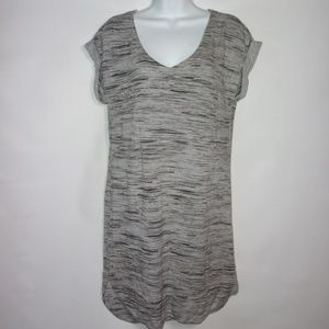 Athleta Marl Grey Gray Short Sleeve Dress Soft